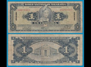 Nikaragua - Nicaragua 1 Cordobas 1960 Pick 99c F (4) (18684