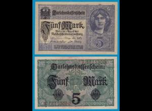 Deutschland - Germany 5 Mark 1917 Ro 54a Pick 56 aUNC (1-) Serie Z (18989