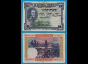 Spanien - Spain - 100 Pesetas Banknote 1925 Pick 69c F (4) (19008