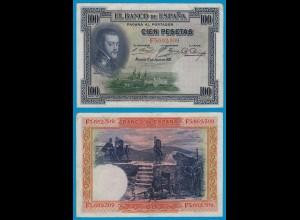 Spanien - Spain - 100 Pesetas Banknote 1925 Pick 69c VF (3) (19009