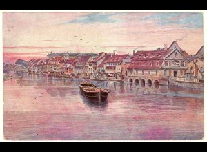 AK Bamberg Bayern Wiro Kunstkarte Klein Venedig (2668