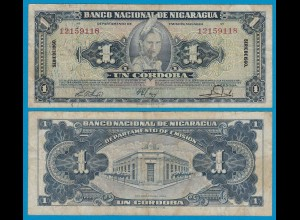 Nikaragua - Nicaragua 1 Cordobas 1960 Pick 99c F/VF (3/4) (18685