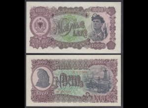 Albanien - Albania - 1000 Leke 1957 PICK 32 aUNC (26672