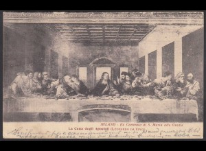 AK Italy Milano 1910 La Cena degli Aposoli (Leonardo Da Vinci) (26695