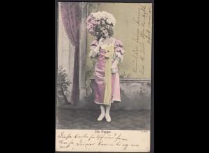 AK 1902 Jugendstil Die Puppe 2.Bild von HOVESTADT n. ARNSBERG (26690