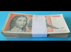 Jugoslawien - Yugoslavia Bundle 100 Stück 50-Millionen Dinara 1993 Pick 123