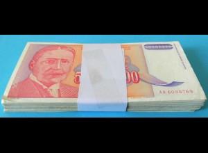 Jugoslawien - Yugoslavia Bundle 100 Stück 50 Millionen Dinara 1993 Pick 133