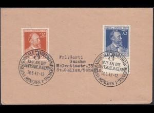 Alliierte Besatzung Gemeinschaftsausg. Mi.963-64 Stephan m.SST auf Umschlag