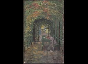 AK Kunst von C.Krebs Herzeleid 1918 Feldpost (26689