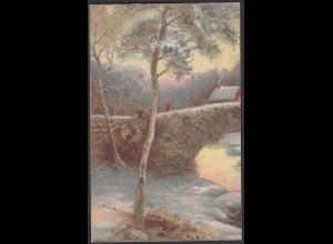 AK Kunstkarte Landschaft 1921 von Osterwick nach Münster (26686