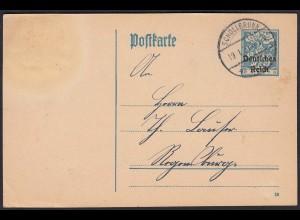 DR Überdruck Bayern 30 Pfg. Ganzsache 1921 Schollbrunn (17631