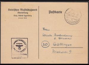 Frei durch Ablösung 3.Reich 1945 Graz Karte Österreich - Göttingen (25784