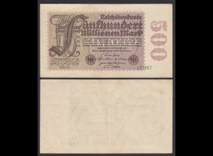 Germany 500 Millionen Mark 1923 Ro 109d Pick 110 FZ: GD-15 VF (3) (26657
