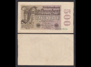 Germany 500 Millionen Mark 1923 8-st. Ro 109e Pick 110 FZ: GD-32 VF (3) (26660