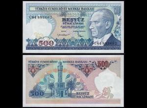 Türkei - Turkey 500 Lira Banknote ATATÜRK 1970 (1983) Pick 195 UNC (1) (15778