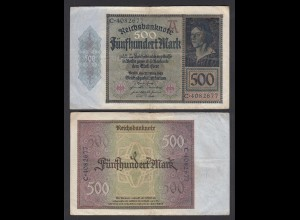 Germany 500 Mark 1922 Serie C 7-stellig Ro 70 Pick 73 F (4) (26661