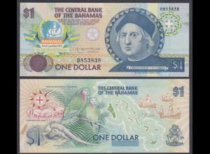 Bahamas - 1 Dollar 1974 (1992) Kolumbus Pick 50a UNC (1) (26706