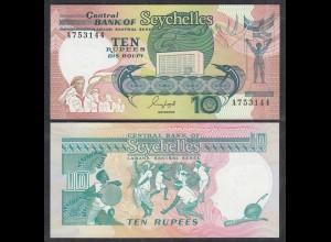 Seychellen 10 Rupien Banknote (1989) Pick 32 UNC (1) (26707