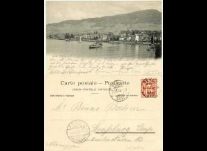 AK 1903 Vevey Schweiz See Schiff Boot Segel nach Strassburg (1388