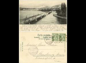 AK 1903 Geneve Schweiz See Brücke nach Strassburg (1389
