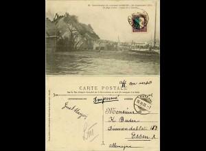 AK Katastrophen Karte 25.9.1911 Schweiz Catastrophe du Cuirassé Liberté (1400
