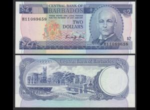 Barbados 2 Dollar Banknote 1986 Pick 36a UNC (1) (26711
