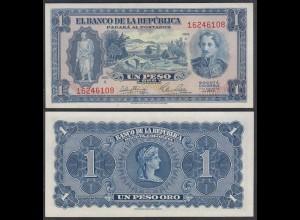 Kolumbien - Colombia 1 Peso Oro 1953 Pick 398 UNC (1) (26735