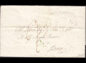 ITALY Altbrief 1839 - Vecchia lettera del 1839 con contenuto interessante