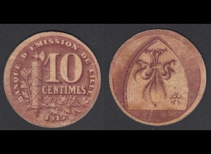 Frankreich - France Lille 10 Centimes 1915 Banknote F (4) (26754