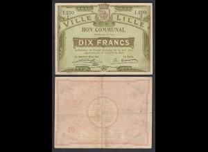 Frankreich - France Lille 10 Francs 1914 Banknote F/VF (3/4) (26755