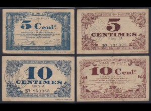 Frankreich - France Lille 5 + 10 Centimes 1917 Banknote F/VF (3/4) (26758