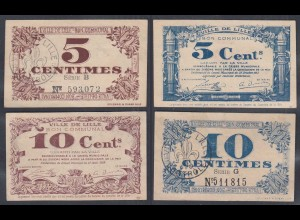 Frankreich - France Lille 5 + 10 Centimes 1917 Banknote XF (2) (26760
