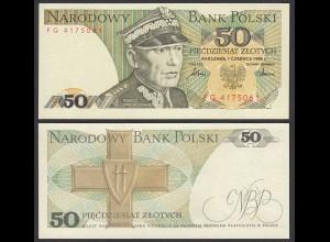 Polen - Poland 50 Zlotty Banknote 1986 Pick 142c UNC (1) (26761