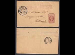 1898 Streifband Grossbritanien gelaufen v. Amsterdam n. Weltevreden (26768