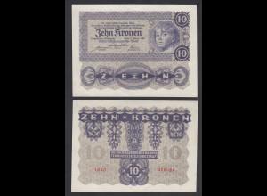 ÖSTERREICH - AUSTRIA 10 Kronen 2.1.1922 Pick 75 aUNC (a1) (26777