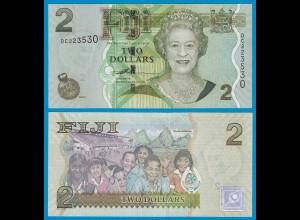 Fidschi - FIJI 2 Dollars 2007 Pick 109 UNC (1) (18606