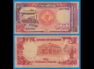 Sudan - 50 Pounds Banknote 1990 Pick 43c VF (3) (18611