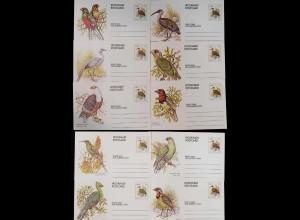 Ciskei - 10 Stück verschiedene Ganzsachen 1981 Vögel Birds Tiere ungebr. (9673