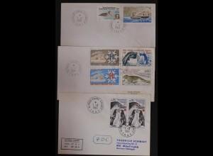 TAAF 3 Stück versch. Briefe 1981 Vögel Birds Tiere Pinguin (9671