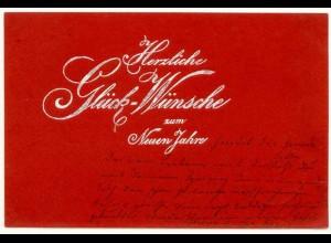AK 1900 Glückwunsch Neues Jahr Silberdruck (2826