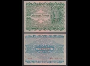 Österreich - Austria 100 Kronen 1922 Pick 77 AU (1-) (26778