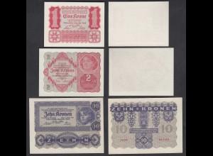 Österreich - Austria 1,2,10 Kronen 1922 UNC (1) (26779