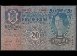 Österreich - Austria 20 Kronen 1913 (1919) 2. Auflage Pick 53 UNC (1) (26782