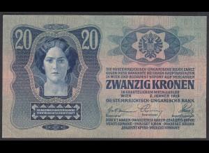 Österreich - Austria 20 Kronen 1913 Pick 13 gutes VF (3) (26783