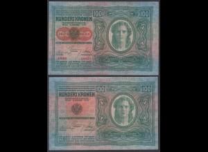 ÖSTERREICH - AUSTRIA 100 Kronen 1912 (1919) Pick 56 XF (2) 26784