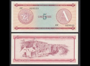 Kuba - Cuba 5 Peso Foreign Exchange Certificates 1985 Pick FX3 VF (3) (26787