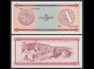 Kuba - Cuba 5 Peso Foreign Exchange Certificates 1985 Pick FX3 UNC (1) (26793