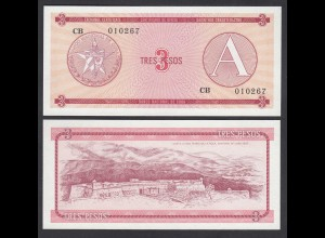 Kuba - Cuba 3 Peso Foreign Exchange Certificates 1985 Pick FX2 UNC (1) (26796