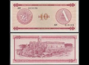 Kuba - Cuba 10 Peso Foreign Exchange Certificates 1985 Pick FX4 UNC (1) (26798