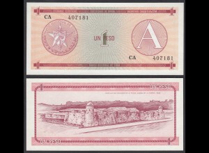 Kuba - Cuba 1 Peso Foreign Exchange Certificates 1985 Pick FX1 UNC (1) (26799